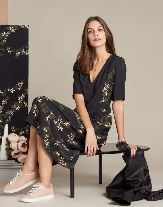 Langes Kleid mit Blumenprint Piment (2) - 1-2-3