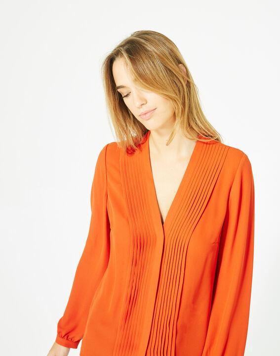 Blouse orange manches longues Doris (2) - 1-2-3