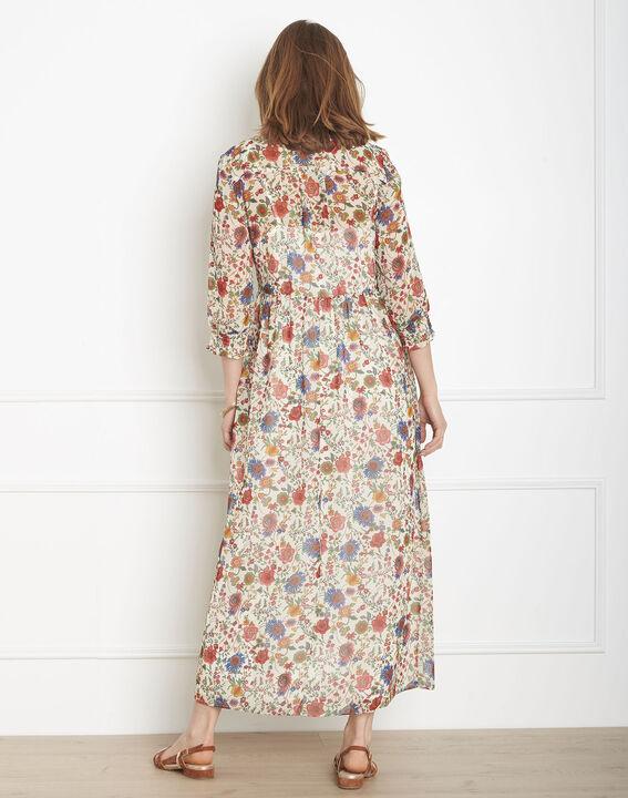 Robe écrue imprimé fleuri Libra (3) - Maison 123