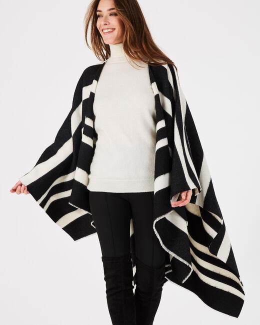 Poncho noir et blanc Eldorado (2) - 1-2-3