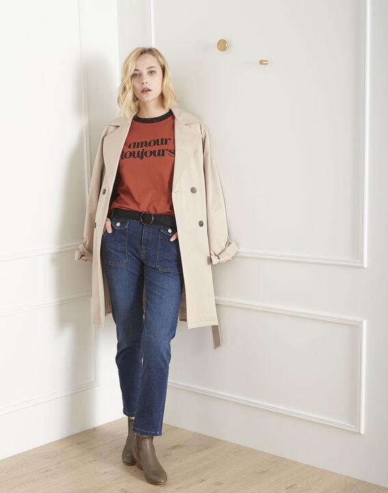 Tee-shirt acajou message Poule (2) - Maison 123