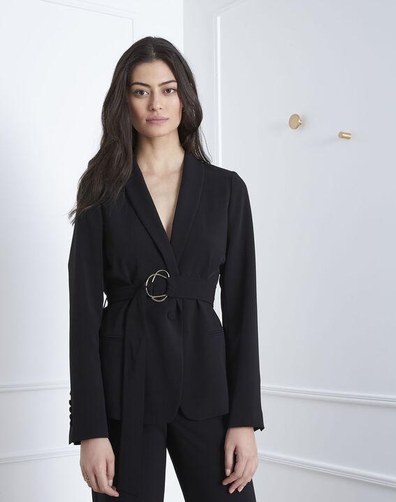 Veste noire détail doré ceinture Fanny (1) - Maison 123