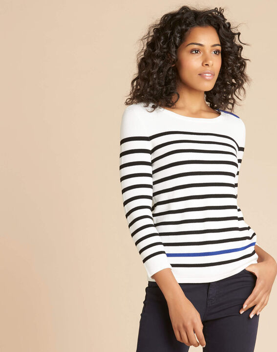 Navire blue and white striped sweater (3) - 1-2-3
