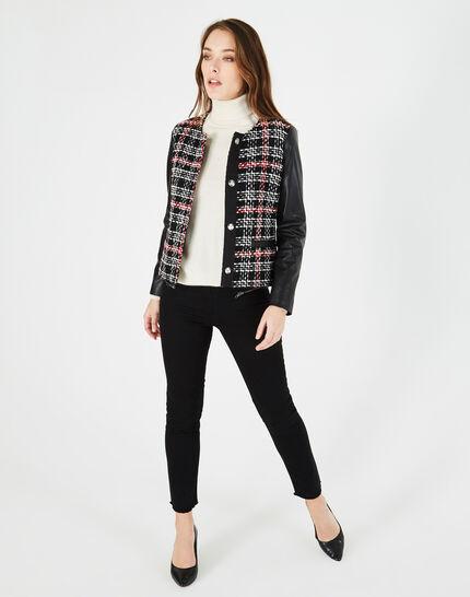 Danae black and white check jacket (1) - 1-2-3