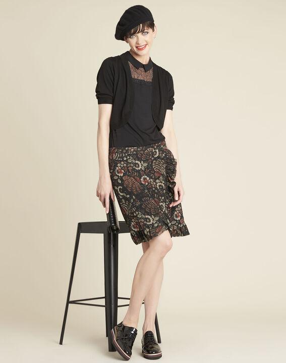 Zwarte bolero van dun tricot Basilic (2) - Maison 123