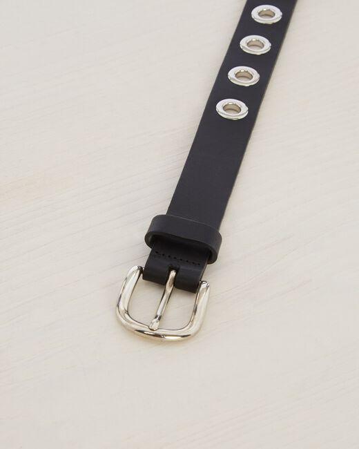 Oratio fine black leather belt (2) - 1-2-3