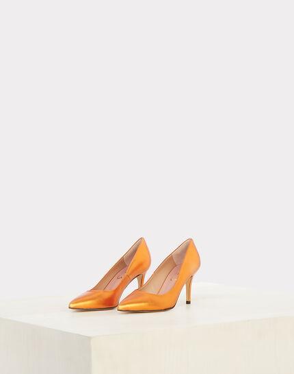 Nastasia orange heels with pointed toe (1) - 1-2-3