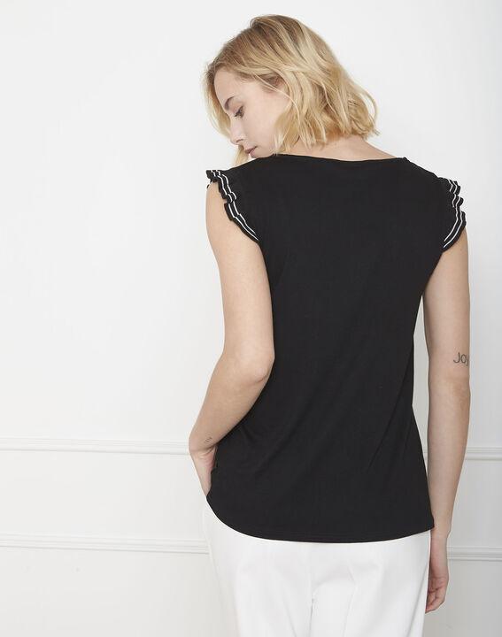 Tee-shirt noir volants Paulina (4) - Maison 123