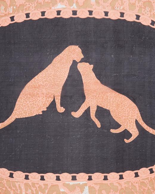 Eugenie silk printed scarf (2) - 1-2-3