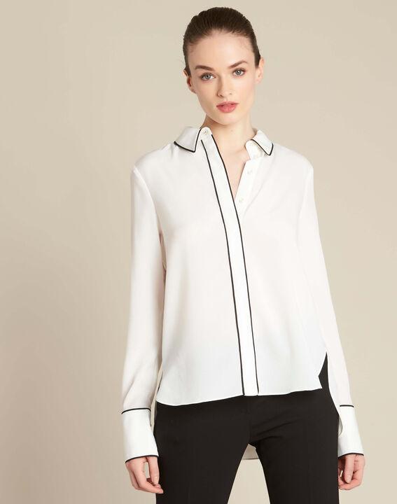 Weiße Bluse mit Borte Darianne (3) - 1-2-3