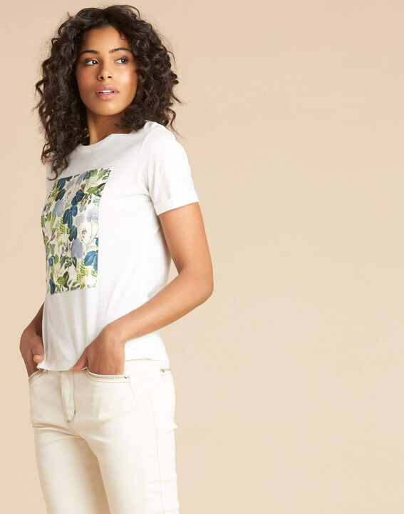 Esquare ecru T-shirt with floral pattern (3) - 1-2-3