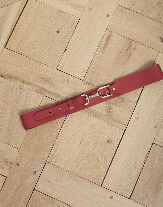 Ceinture en cuir rouge à boucle mousqueton Alice PhotoZ   1-2-3