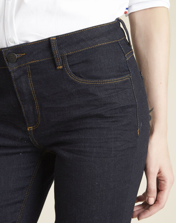 Marineblauwe straight-fit jeans Vivienne (3) - 37653