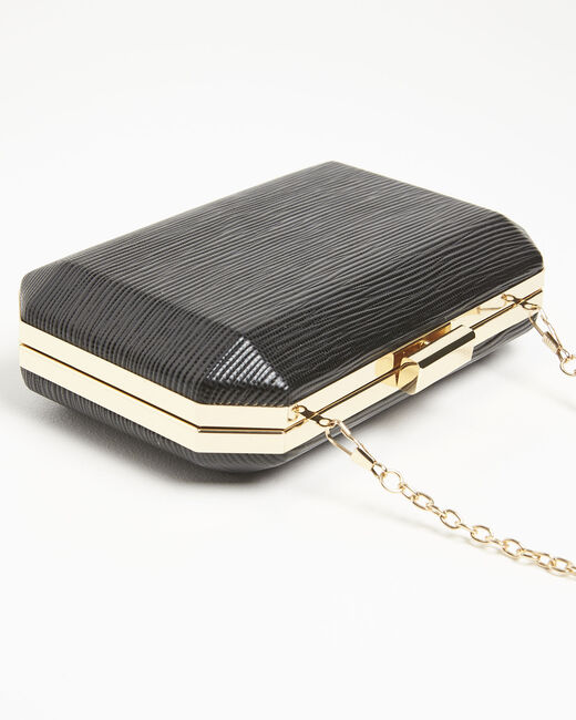 Ilona black clutch bag with silver details (2) - 1-2-3