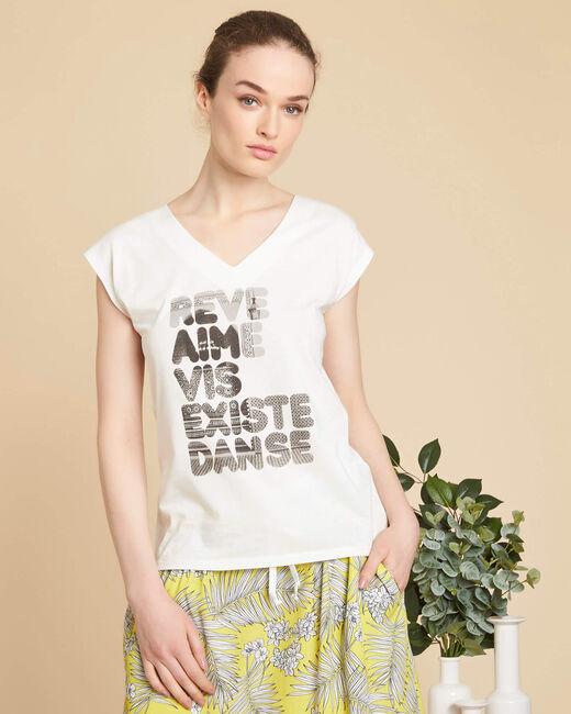 Tee-shirt écru sérigraphé Elist (2) - 1-2-3