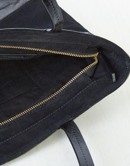Rafi dual-fabric black bag (4) - 1-2-3