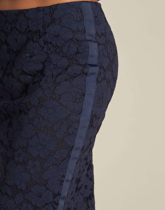 Marineblauer gerader Spitzenrock Lantana PhotoZ | 1-2-3