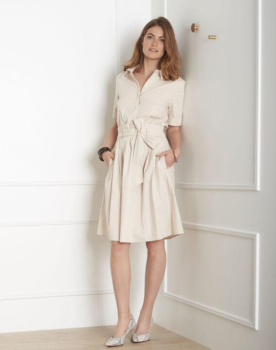 Robe blanc cassé chemise fluide Laika PhotoZ   1-2-3