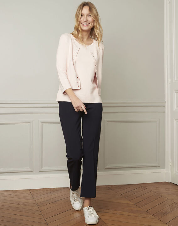 Abricot powder pullover with compact eyelets  (1) - Maison 123
