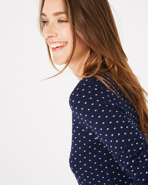 Pastille blue sweater with polka dots (2) - 1-2-3
