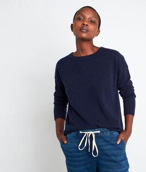 Marineblauwe trui van kasjmier Timeo