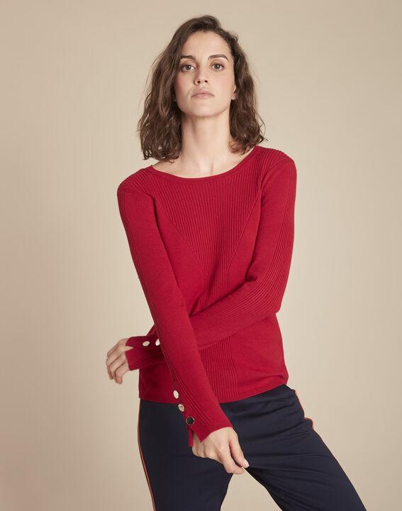 Pull rouge en jersey Flora PhotoZ   1-2-3
