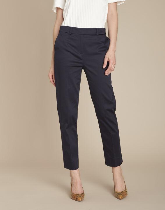 Rubis navy cigarette trousers (1) - Maison 123