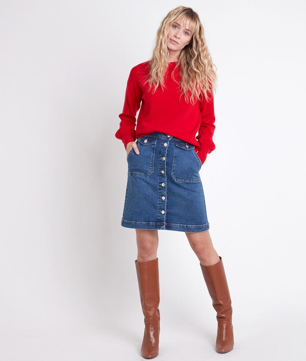 Jupe en jean boutonnée Ambre PhotoZ   1-2-3