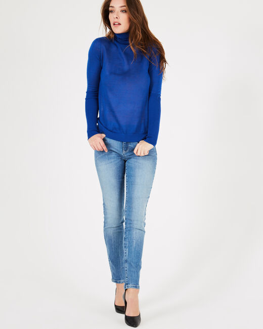 Pomme royal blue polo-neck sweater (1) - 1-2-3