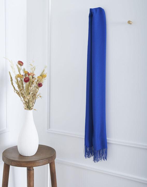 Foulard bleu à franges Fossette PhotoZ | 1-2-3