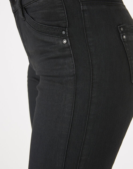 Pia black 7/8 length coated trousers (4) - 1-2-3