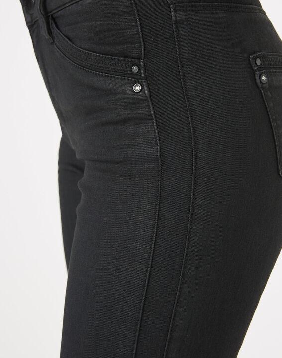 Pantalon noir enduit 7/8ème Pia (4) - 1-2-3