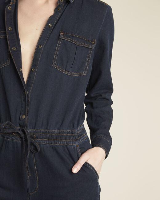Donkerblauwe overall van jeans Desire (1) - 37653