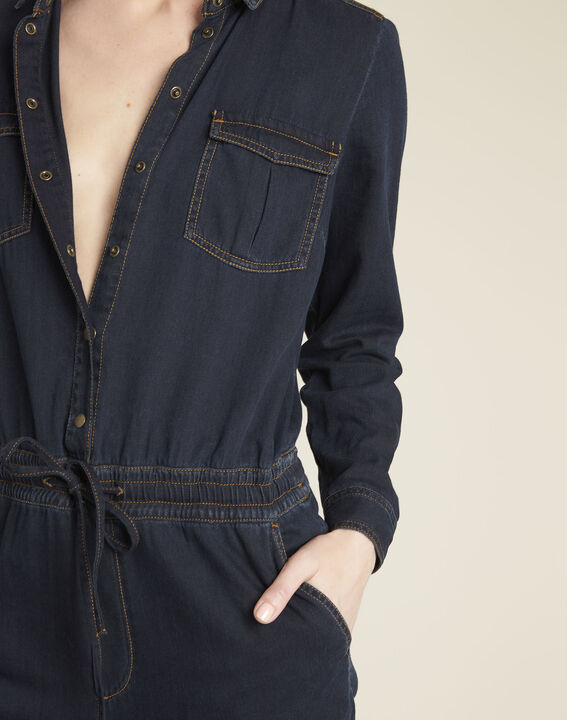 Donkerblauwe overall van jeans Desire (2) - 37653