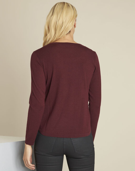 Berlin Bordeaux fine knit wool pullover (4) - 1-2-3
