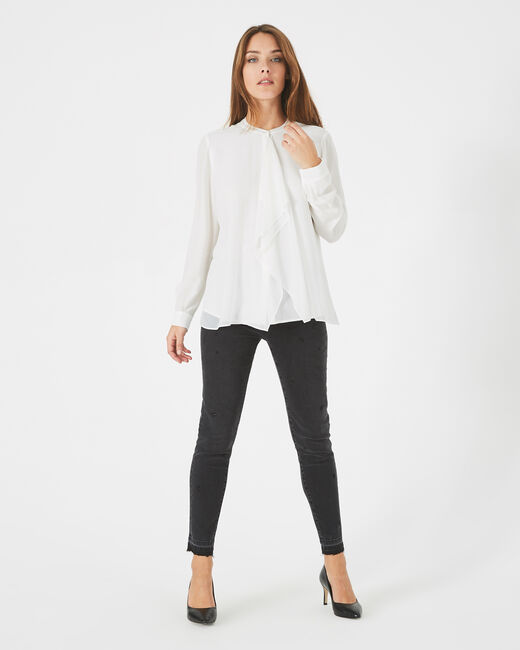 Danika off-white frilly blouse (1) - 1-2-3