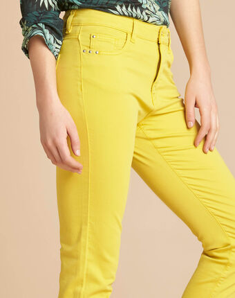 Zitronengelbe slim-fit-jeans normale leibhöhe vendome zitronengelb.