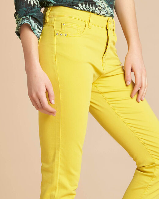 Vendôme slim-cut standard size lemon jeans (2) - 1-2-3