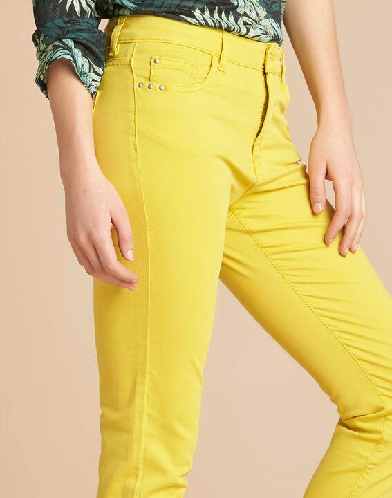 Zitronengelbe Slim-Fit-Jeans normale Leibhöhe Vendome PhotoZ | 1-2-3