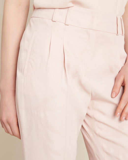 Vada pale pink trousers with jacquard palm print (1) - 1-2-3