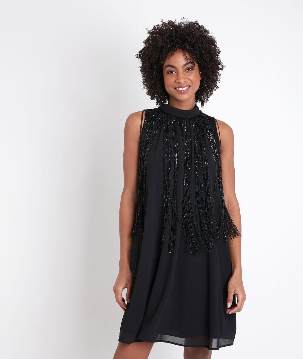 Robe noire à sequins Chachacha PhotoZ | 1-2-3