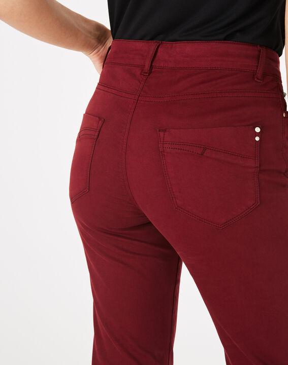 Pantalon slim bordeaux William (3) - 1-2-3