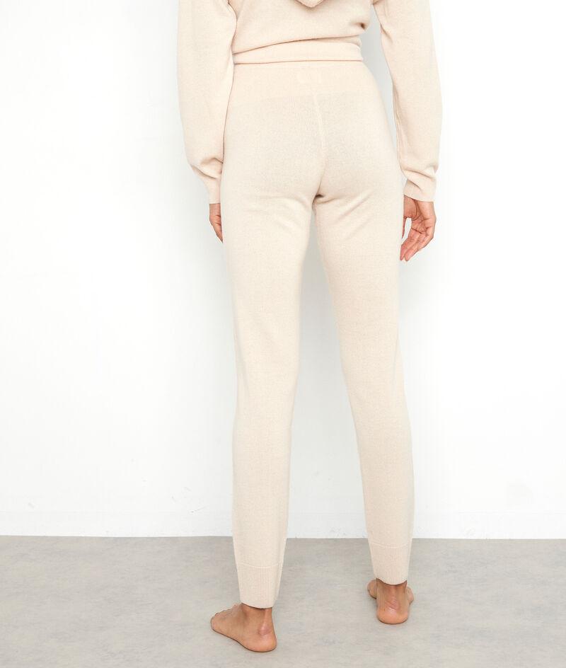 Pantalon en polyester et laine recyclés beige Taylor PhotoZ   1-2-3