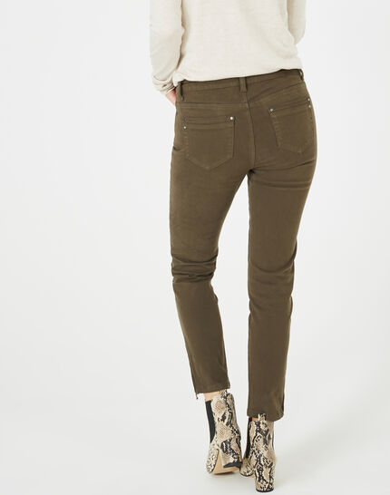 Pantalon 7/8ème kaki satin Pia (5) - 1-2-3