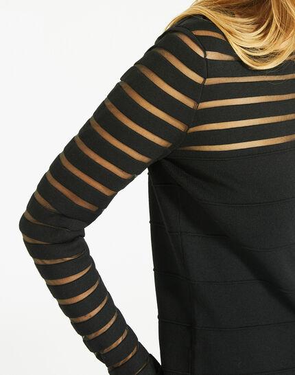 Pull noir fantaisie à rayures transparentes Peggy (3) - 1-2-3