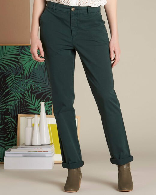 Victoria dark green chinos with turn-ups (2) - 1-2-3