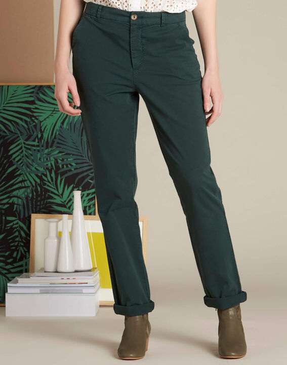 Victoria dark green chinos with turn-ups (3) - 1-2-3