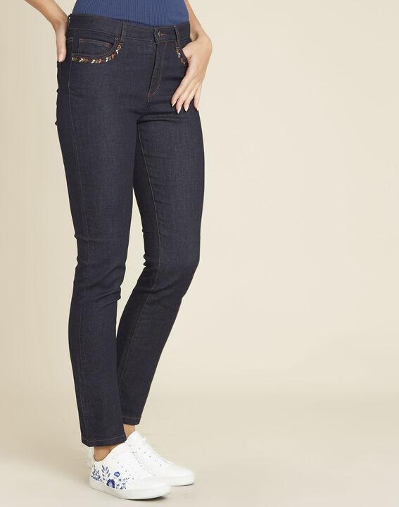 Rechte, onbewerkte jeans met geborduurde zakken Vivienne PhotoZ | 1-2-3