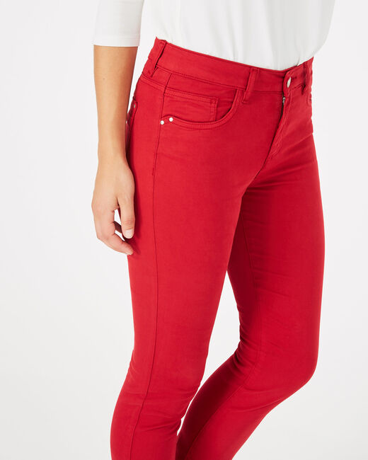 Oliver 7/8 length raspberry trousers (2) - 1-2-3