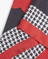 Carré de soie rouge motif pied de poule Fraise (2) - 1-2-3